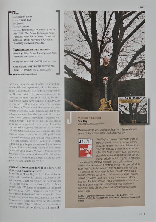 jazzit 003 Published in Jazzit Magazine